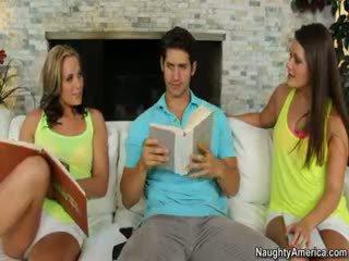 brünett, tegelikkus, threesome