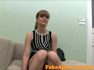 Fakeagent portugees stunner fucks in casting