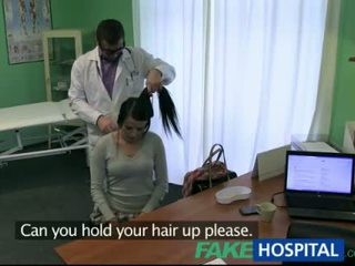 Black hair babe fucked with fake doctor