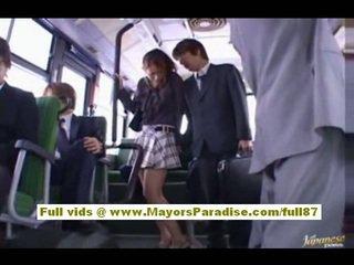 Nao yoshizaki sexy asiatic adolescenta pe the autobus
