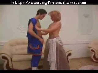 Retro Vintage Granny Mom Son Sex matur...
