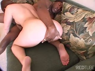 Tight white pussy meets big black cock