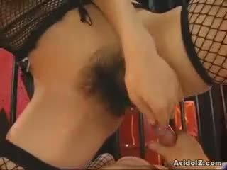 Ai kurosawa on a fishnets hussy