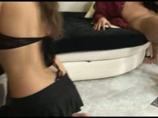 Kyra Black And Abbie Cat Acquire Their Enchanting Lips Round Two Throbbing Cocks