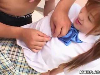 Japanes dospívající v školní jednotný gets fucked uncensored