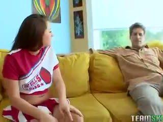 Teamskeet jung klein titten tattoedbrunette cheerleader talia palm