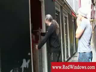 Ducth Escort window shopping in Amsterdam