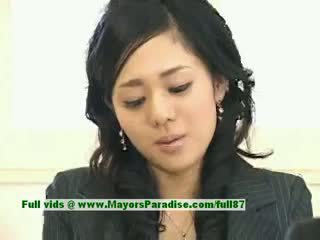 Sora aoi innocent seksualu japoniškas studentas yra getting pakliuvom