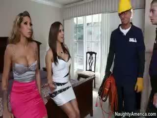 veľký bruneta, nový skupinový sex plný, pekný pornstar skontrolovať