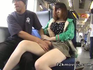 Japānieši publisks aziāti sekss uz the vilciens