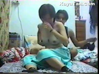 Malay chinois couple sexe sous caché cam
