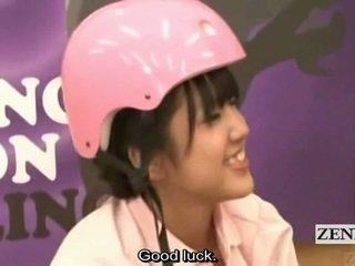 Subtitled जपानीस आमेचर bowling गेम साथ फोरसम