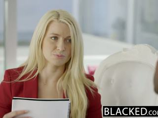 Blacked 业务 金发 anikka albrite 屁股 性交 由 一 bbc