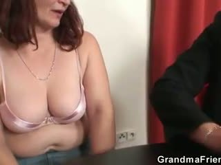 She loses in poker and takes two dicks at once