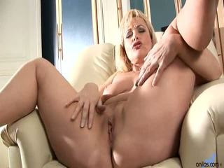 Blond Getting Fucked With Anal Beads