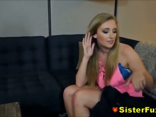 Busted Stripper Sister Harley Jade Gives Brother Secret Lap Fuck