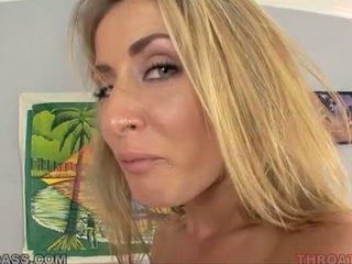 Sperma eating blondynka abby krzyż fucked w throat