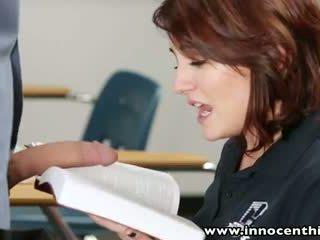 InnocentHigh Young innocent brunette student bangs teacher