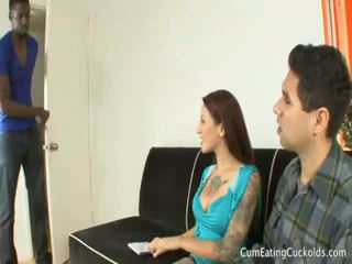 Gia Jakarta Shoves Her Hubbys Mouth Down a cock