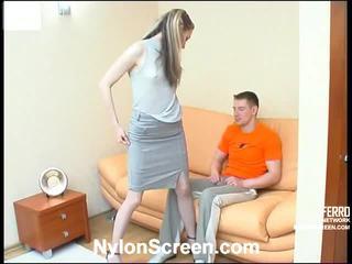 Meredith og oscar screened mens having nylonsex