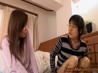 Japanese mature woman has adorable