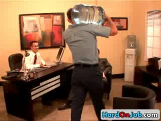 Горещ homo офис три малко 3 от hardonjob