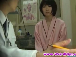 Asian hotties get nude at doctors office