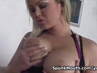 deepthroat, big boobs, oil