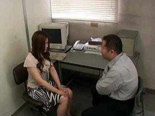 امرأة سمراء, نحيف, مكتب