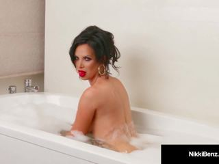 Penthouse Pet Nikki Benz Washes Her Big Tits in a Soapy