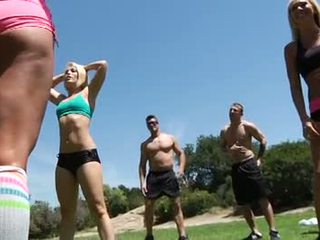 Caliente chicas grande tetitas impresionante fitness clase
