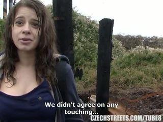 Tsjechisch hogeschool meisje openlucht seks voor cash