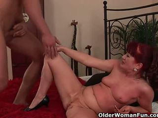 Red hot grandma gets her small tits covered in cum - Porn Video 772