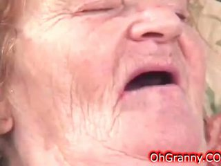 Slutty Dirty Granny Gets Wet