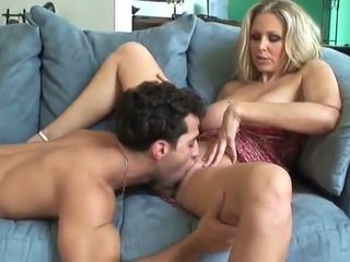 Cute busty MILF in action