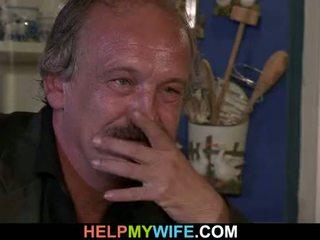 Older husband arranges naughty cuckolding