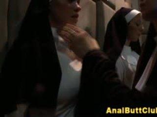 Fetisch nuns insert object