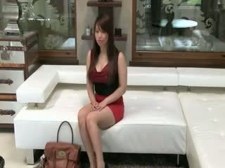 Tokyo babeh with big susu kurang ajar on sofa