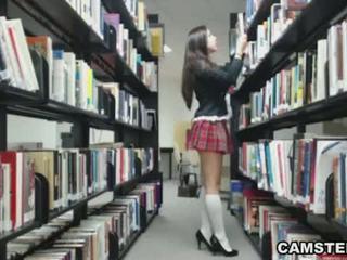 Schoolgirl in uniform wants to bust yo...