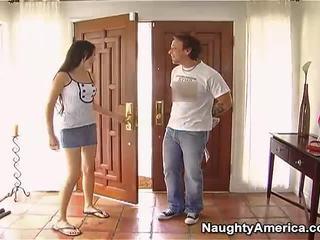 Naughty Darky Haired Sasha Grey Making Love Onto Erotic America