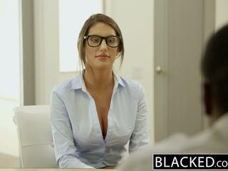 Blacked august ames gets an міжрасовий кінчання