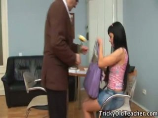 Hot sweetheart olesya drills with her guru.