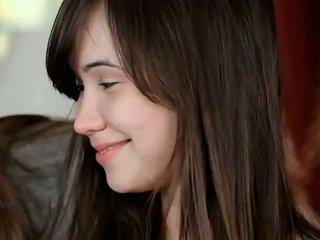 brunetka, młody, piękno
