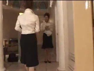 3 vit flickor i japanska massagen parlor