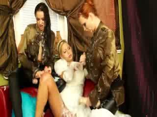 Classy girls smear the jiz in their cl...