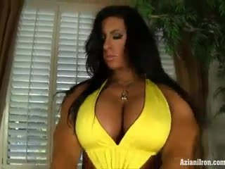 Aziani železo angela salvagno female bodybuilder dobili nag