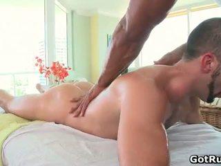 Muscular bald hunk massage dude dann