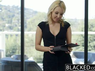 Blacked mooi blondine hotwife aaliyah liefde en haar zwart lover