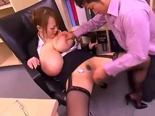 Поганий офіс леді з великий цицьки hitomi tanaka