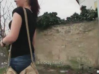 Amateur european slut fucked at the park
